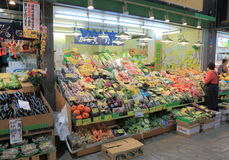 Famous Omicho local market Kanazawa Japan Stock Photo