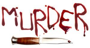 Omicidio e pugnale Fotografie Stock Libere da Diritti