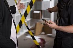 Omicidio o scena del crimine Fotografia Stock Libera da Diritti