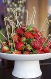 οι φράουλες ραβδιών παρ&omicr Στοκ εικόνες με δικαίωμα ελεύθερης χρήσης