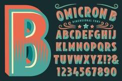 Omicron B Custom Alphabet Stock Photos