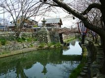 Hachiman Merchant House And Moat, Shiga Japan. Omihachiman city merchant town with moat which has been maintained from the oda nobunaga era Stock Image