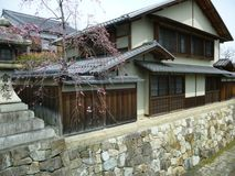 Hachiman Merchant House, Shiga Japan. Omihachiman city merchant town with moat which has been maintained from the oda nobunaga era Stock Images