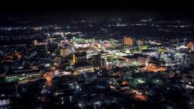 Omihachiman na opinião aérea da noite Imagem de Stock Royalty Free