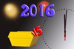 2015 omijał i 2016 jest latającym wysokością Zdjęcie Stock