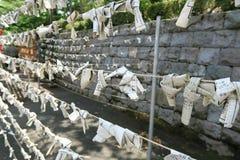 Omikuji, empaquettent l'oracle écrit Photographie stock libre de droits