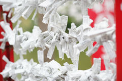 Omikuji. Is random fortunes written on strips of paper at Shinto shrines and Buddhist temples in Japan Royalty Free Stock Photography