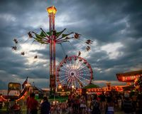 Ominous Carnival Stock Images