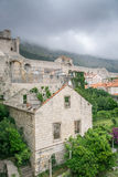 Ominous Clouds Cover Mount Srd Near Dubrovnik Royalty Free Stock Photography