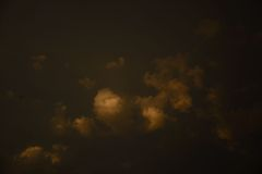 Ominous clouds before a storm. Beautiful clouds and sky colour before a storm stock photography