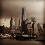 Ominous. Freedom tower ny Stock Images
