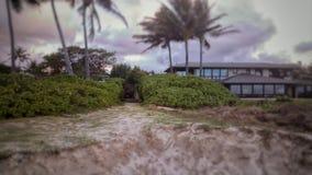 Ominous. Kailua Beach Oahu Hawaii royalty free stock photos
