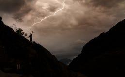 Ominous lightning Stock Photos