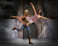 Ominous Monster Ballet Halloween Dance Royalty Free Stock Photo