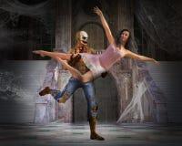 Ominous Monster Ballet Halloween Dance royalty free illustration