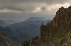 Ominous mountains Madeira royalty free stock images