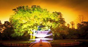Ominous orange glow. Glowing light painting with an orange cast royalty free stock photography