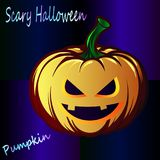A Merry Holiday - Scary Halloween - A Great Pumpkin Jack, close-up Stock Images