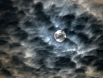 Ominous sky - moon and clouds Royalty Free Stock Photo