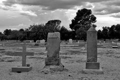 Ominous and Spooky Cemetery Stock Image