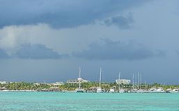 Stock photo of storm brewing in the Carribean Royalty Free Stock Photography