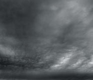 The grey storm clouds over horizon. Royalty Free Stock Photography