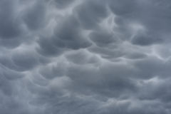Ominous storm clouds. Background of storm clouds before a thunderstorm royalty free stock images