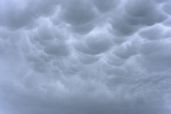 Ominous storm clouds. Background of storm clouds before a thunderstorm stock image