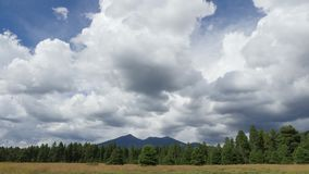Ominous storm clouds building over Humphreys Peak