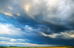 The ominous storm sky Stock Photos
