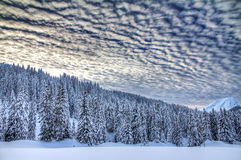 Ominous winter clouds Stock Image