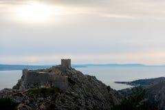 Omis古老城堡  免版税图库摄影