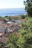 Omis老城镇的视图  库存图片