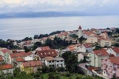 Omis,达尔马提亚,克罗地亚 免版税库存图片
