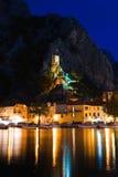 omis ночи форта Хорватии старые Стоковое Изображение