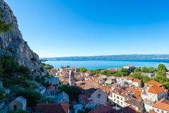 Omis - старый городок в Далмации, Хорватии Стоковое Фото