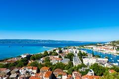 Omis - старый городок в Далмации, Хорватии Стоковые Изображения
