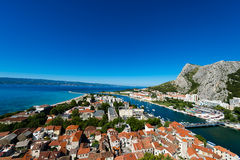 Omis -老镇在达尔马提亚,克罗地亚 库存图片