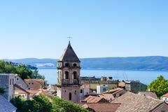 Omis -老镇在达尔马提亚,克罗地亚 免版税库存图片