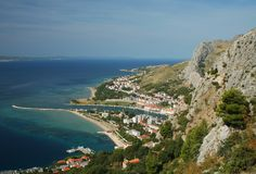 Omis. Historic town of Omis in Croatia, Europe stock photography