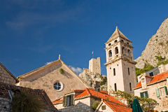 Omis. Centre of historic town omis, croatia Stock Photo