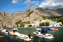 Picturesque scene of Cetina river in Omis, Croatia Stock Photos