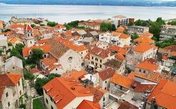 Omis in Croatia. stock images
