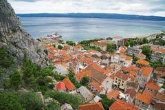 Omis in Croatia. stock photos