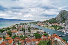 Omis in Croatia. stock image