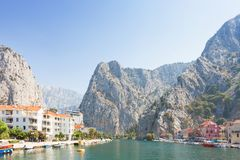 Omis, Croatia - The Cetina river of Omis leading to the back country royalty free stock photo
