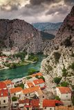 Cetina river in Omis royalty free stock photography