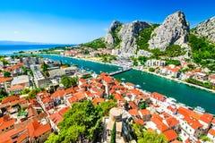 Omis, Dalmatia, Chorwacja obrazy stock