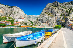 Omis, Dalmatia, Chorwacja fotografia royalty free