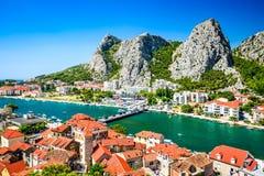 Omis, Dalmatie, Croatie Photographie stock